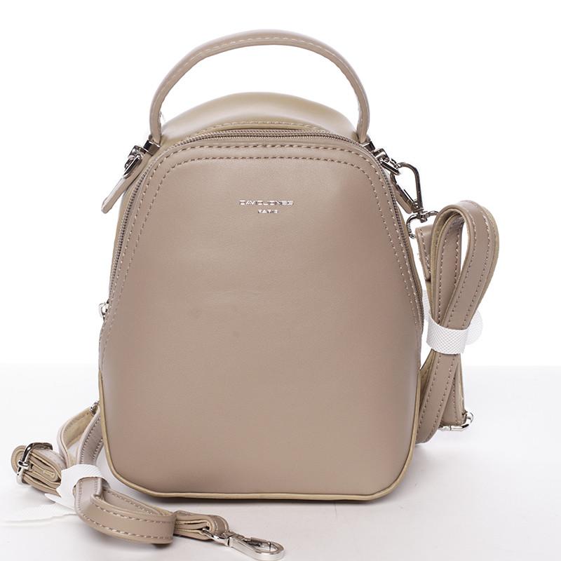 Malý dámsky mestský batoh kabelka camel piesková- David Jones Lefteris ... 85d411addc1