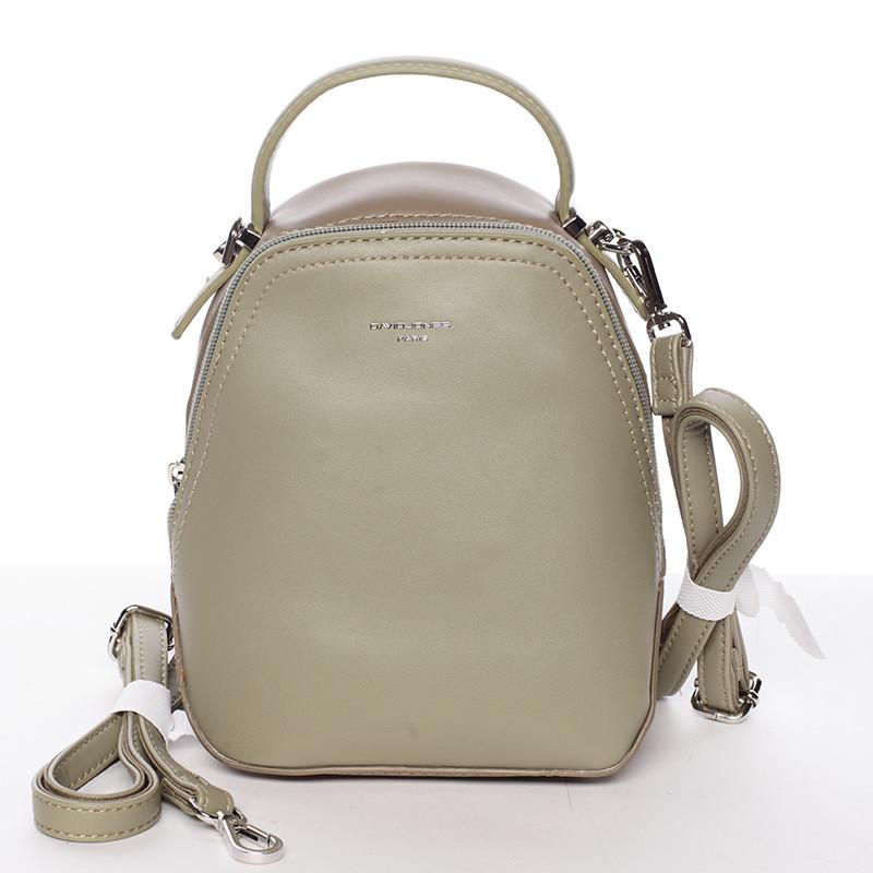 Malý dámsky mestský batoh kabelka bielo olivový - David Jones Lefteris ... 7ad435af7e