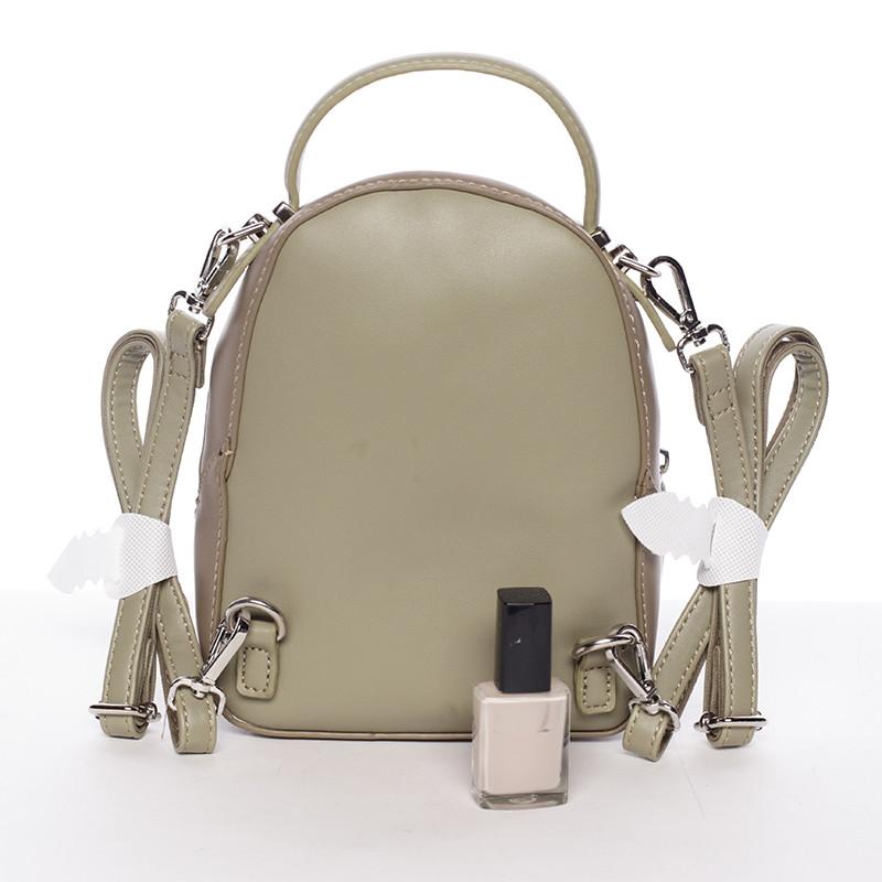 ... Malý dámsky mestský batoh kabelka bielo olivový - David Jones Lefteris  ... e85c267372