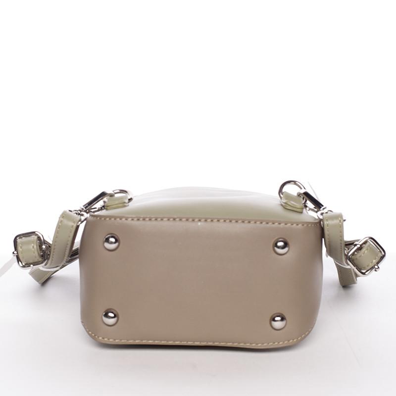 ... Malý dámsky mestský batoh kabelka bielo olivový - David Jones Lefteris a4e4d21479