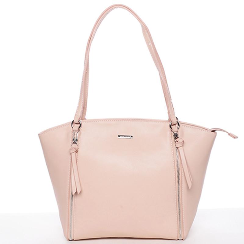 Luxusná dámska kabelka cez rameno ružová - David Jones Lenore - Kabea.cz 3dceb72856c