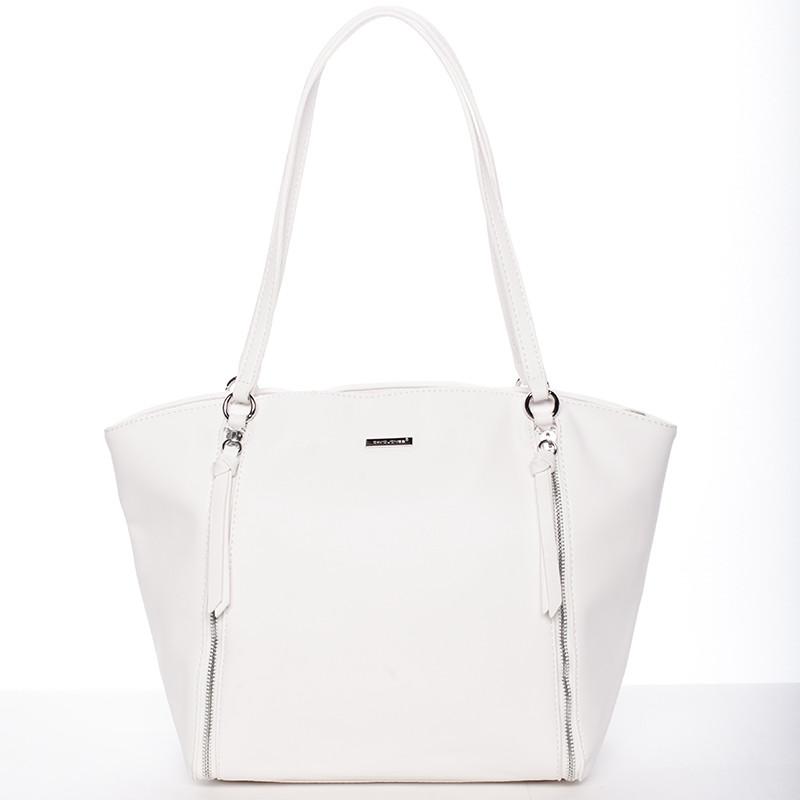 Luxusná dámska kabelka cez rameno biela - David Jones Lenore - Kabea.cz 137f9f9d907