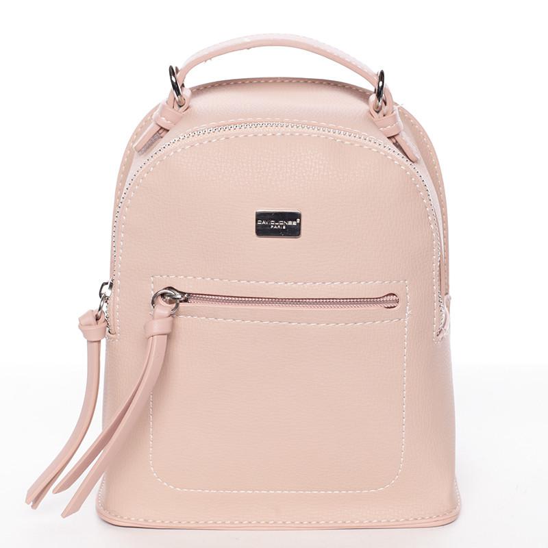 Malý dámsky ružový mestský batoh kabelka - David Jones Leonidas ... 3f2b5704f50