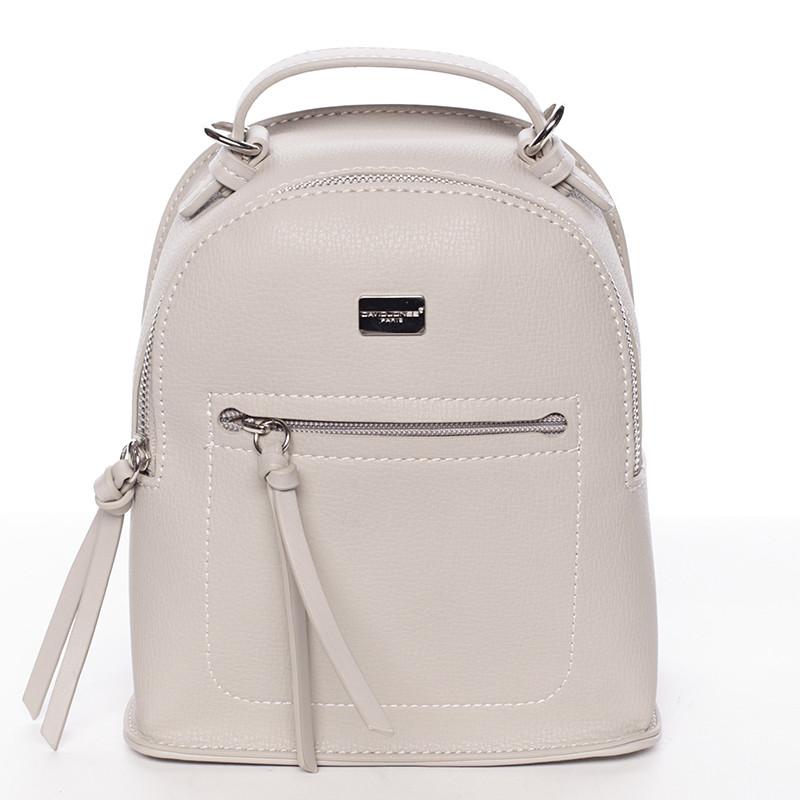 Malý dámsky šedý mestský batoh kabelka - David Jones Leonidas - Kabea.cz 8703aa9ec35