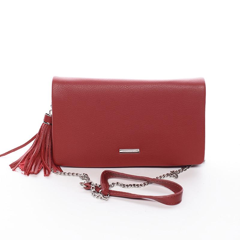 Elegantná dámska crossbody listová kabelka červená - David Jones Laodamia  ... 47705560fd4