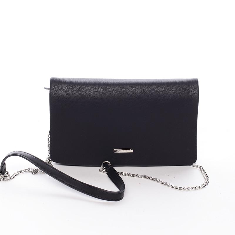 86f4665a1448 Elegantná dámska crossbody listová kabelka čierna - David Jones Laodamia ...