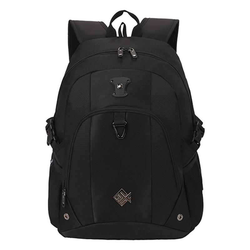 Pohodlný multifunkčný priedušný ruksak čierny - Suissewin 7029 ... f71b718c3ff