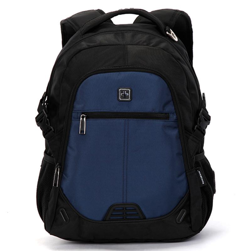 0058e2fe93 Kvalitný turistický a športový priedušný ruksak modrý - Suissewin 9510 ...