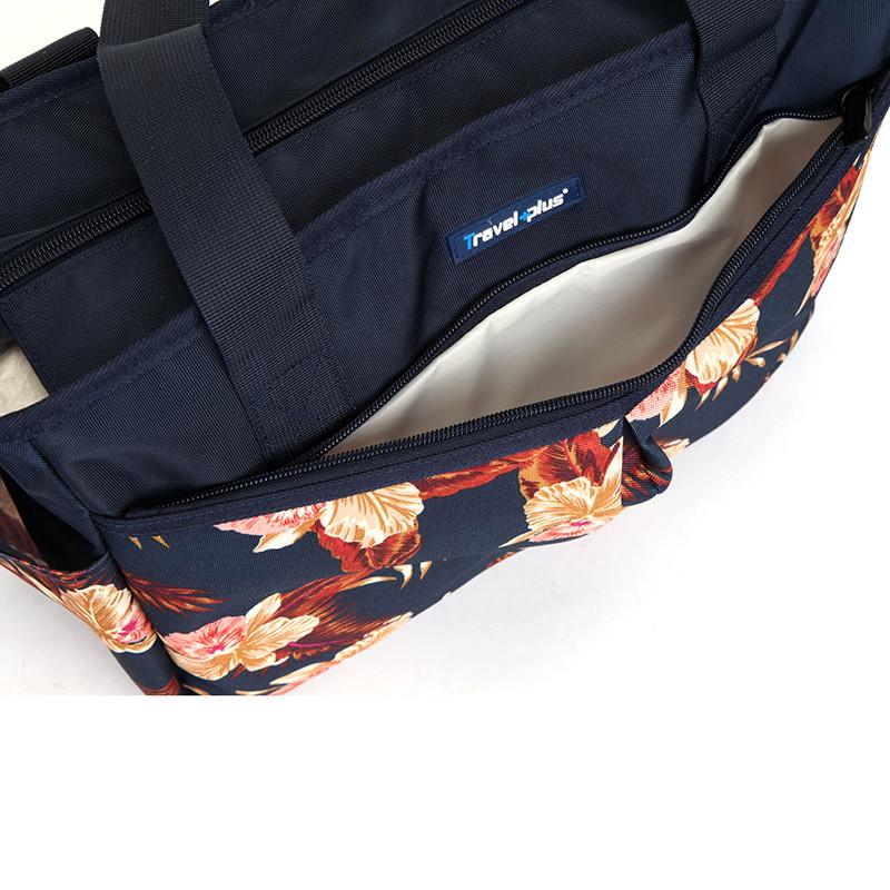 ... Dámska cestovná taška tmavo modrá pruhovaná - Travel plus 7501 ... e778ae9e0b
