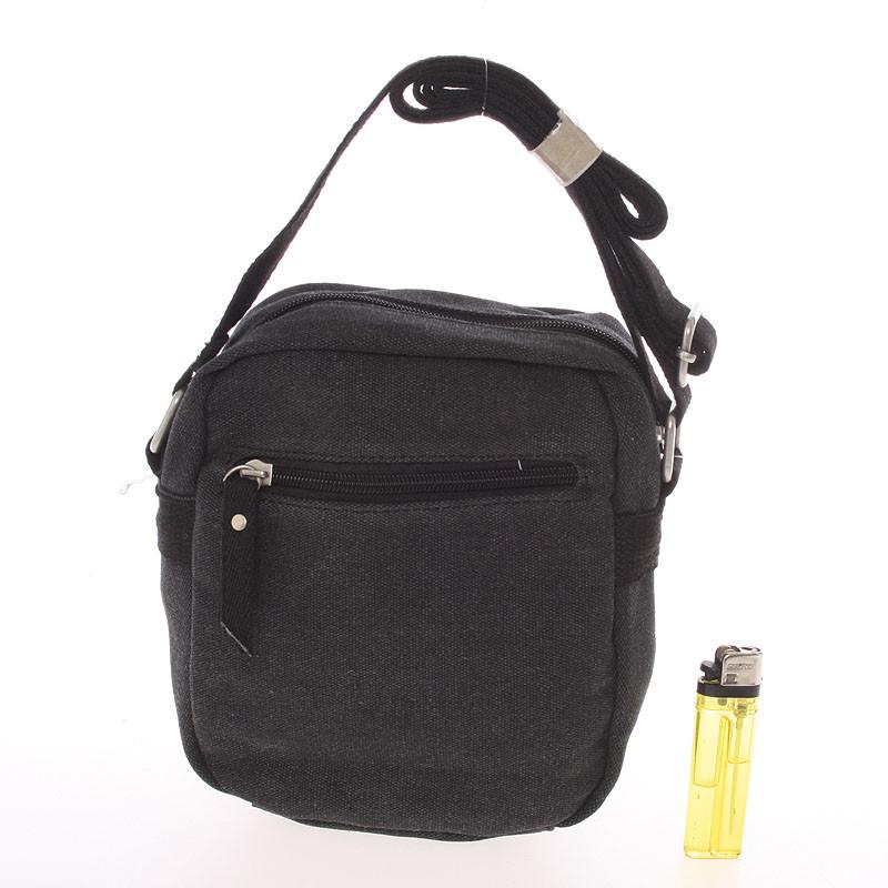 111d767a54 ... Moderná pánska látková čierna kabelka na doklady - New Rebels Conor ...