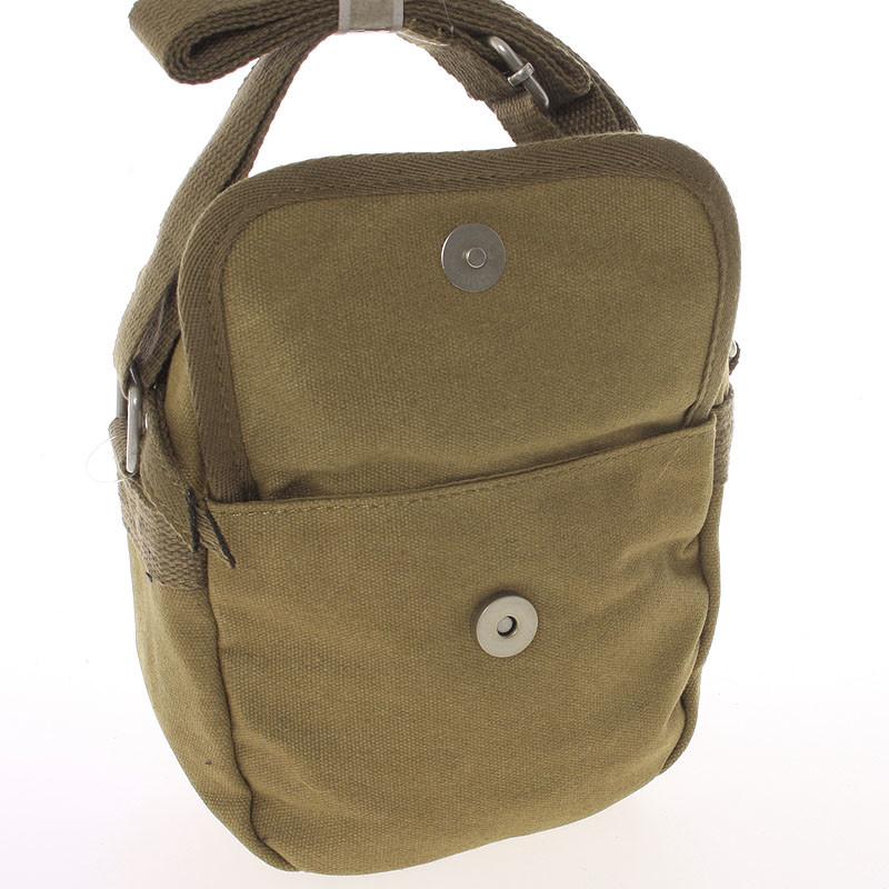 1b72d3a746 ... Moderná pánska látková hnedá kabelka na doklady - New Rebels Conor ...