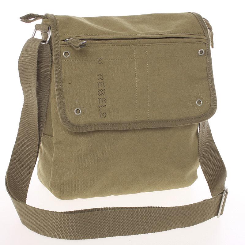 6edb899595 ... Moderná pánska látková khaki kabelka cez rameno - New Rebels Trevon ...