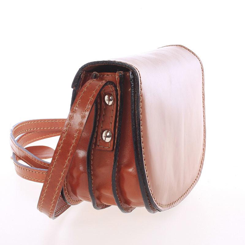Malá koňaková hladká crossbody kožená kabelka - Italo EmZoya - Kabea.cz 9fbb5a81d82