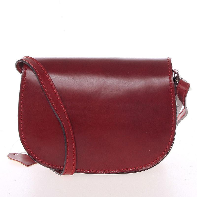 Malá červená hladká crossbody kožená kabelka - Italo EmZoya - Kabea.cz c435d7bce66