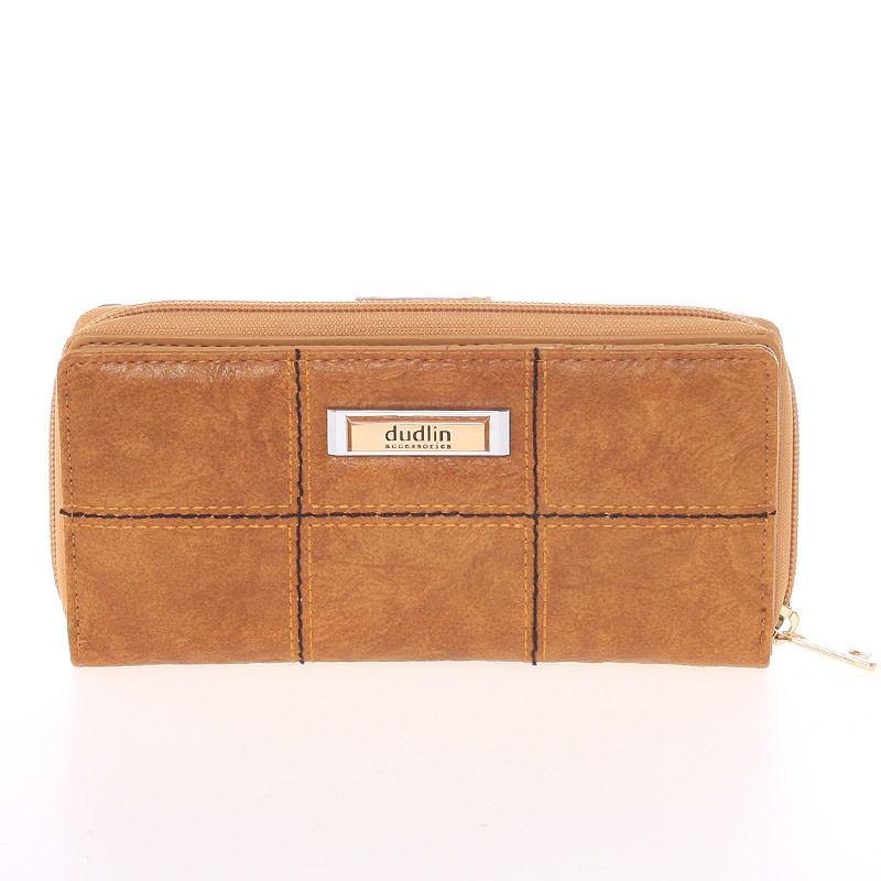 Módna väčšia dámska peňaženka svetlo hnedá - Dudlin M359 - Kabea.cz e0dad7daa35
