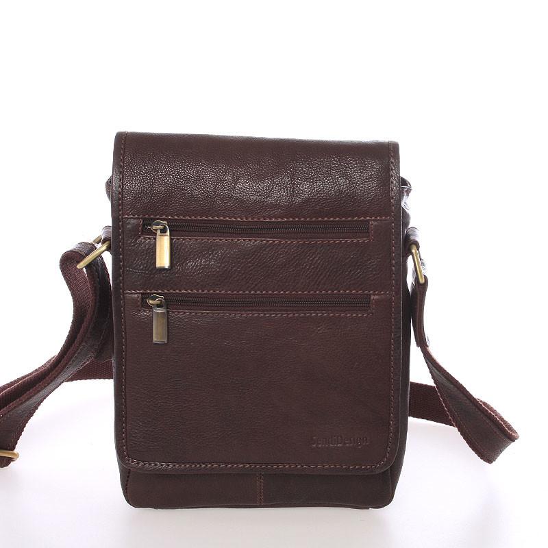 ... Módna pánska kožená taška cez rameno hnedá - SendiDesign Lycaon ... 062384dded3