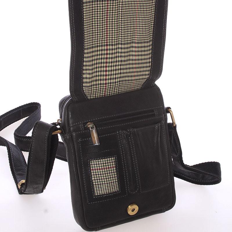 ... Pánska kožená taška na doklady cez rameno čierna - SendiDesign Dumont  ... bb869480096
