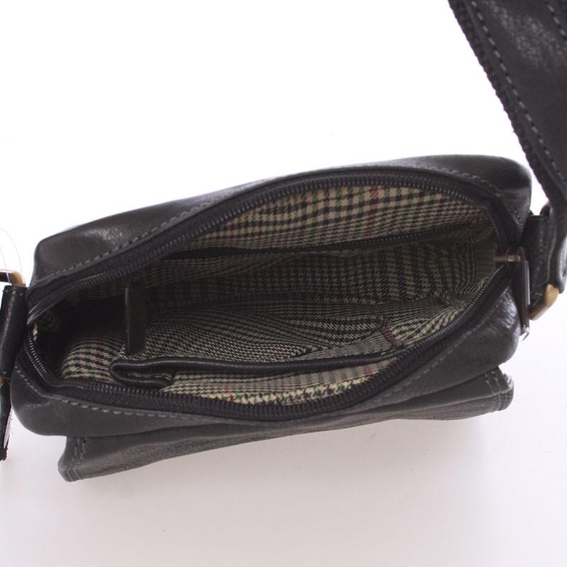 ... Pánska kožená taška na doklady cez rameno čierna - SendiDesign Dumont b3ddc9b5c60
