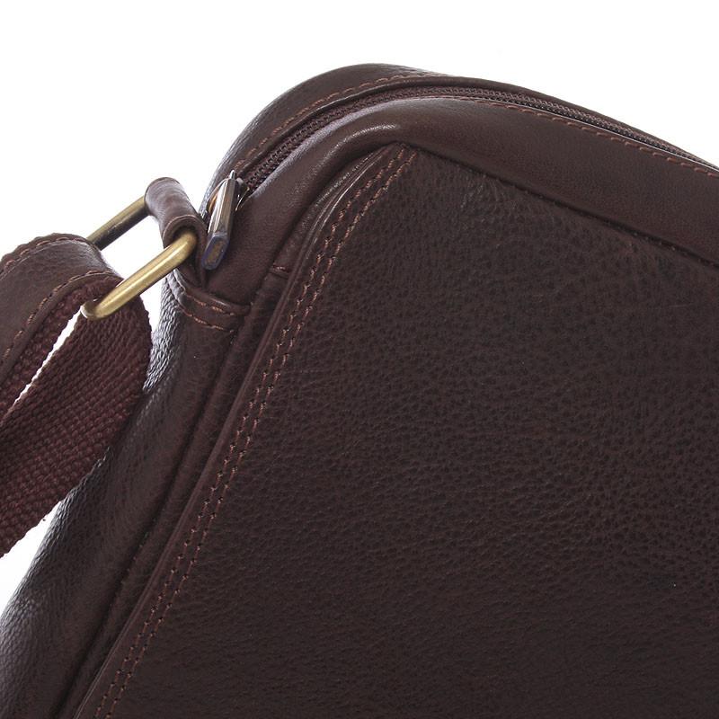 ... Pánska kožená taška na doklady cez rameno hnedá - SendiDesign Didier ... 69303e8493