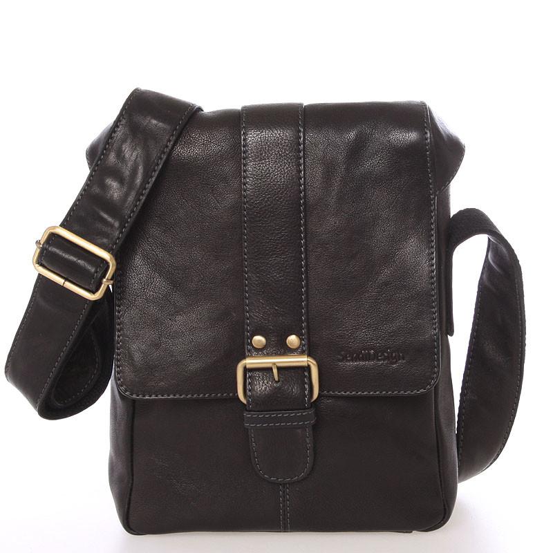 ... Stredná pánska kožená crossbody taška čierna - SendiDesign Lysander ... 1457118d616