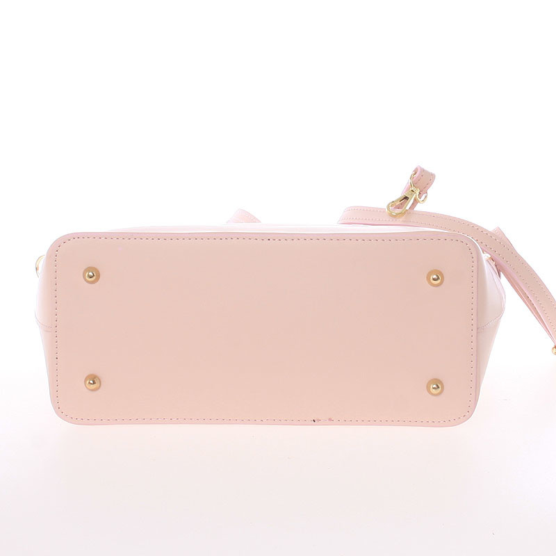 Dámska kožená kabelka svetlo ružová - Delami Valentina - Kabea.cz e2b47c83142