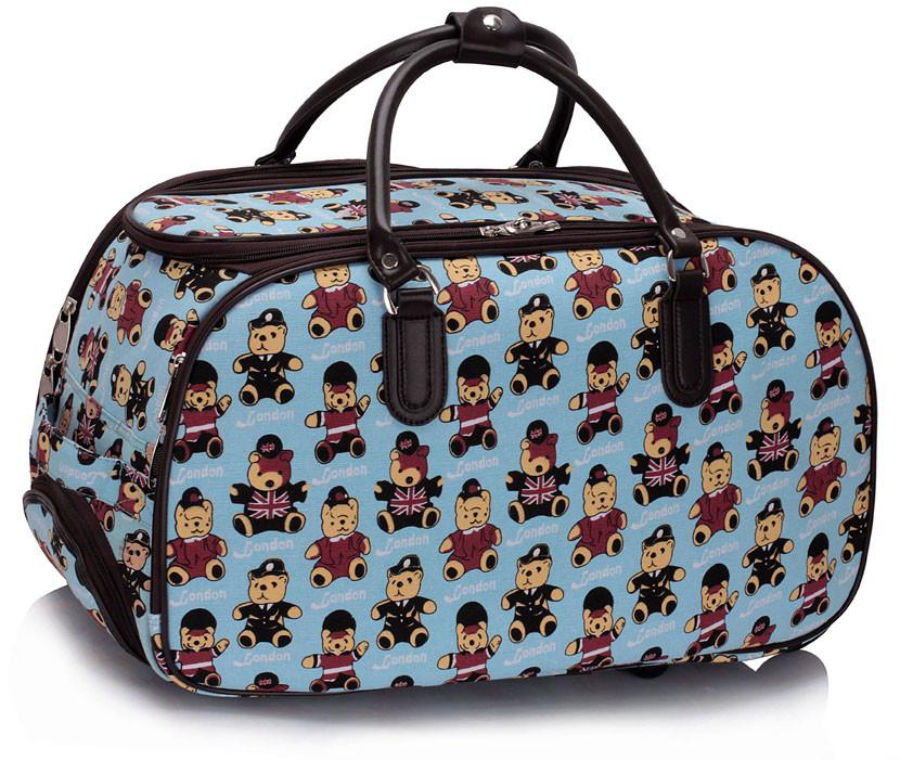 0139a73afd938 Detská cestovná taška modrá - LS Fashion 0308 - Kabea.cz