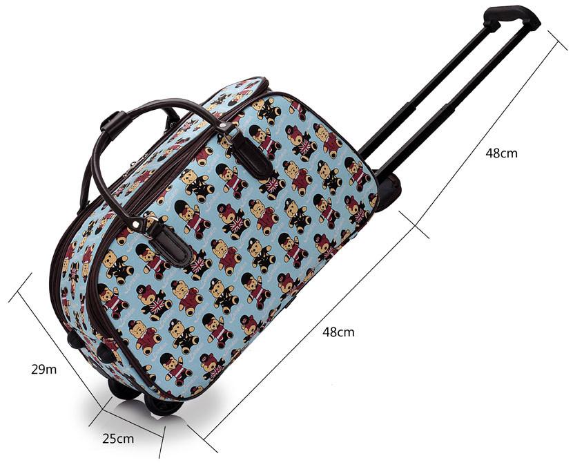 ef1a1fc3b94b1 Detská cestovná taška modrá - LS Fashion 0308 - Kabea.cz