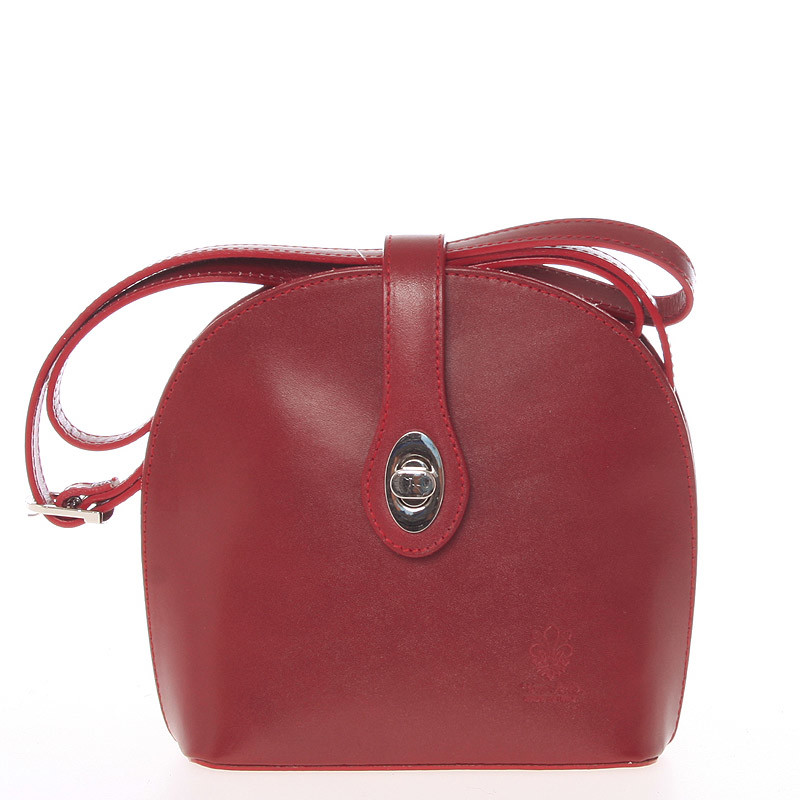 ede166b6f Malá dámska červená kožená crossbody kabelka - Italo Zerena - Kabea.cz