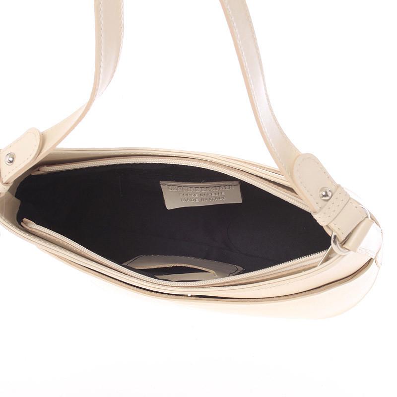 Béžová kožená kabelka cez rameno ItalY Lydia - Kabea.cz 0ca169adff2