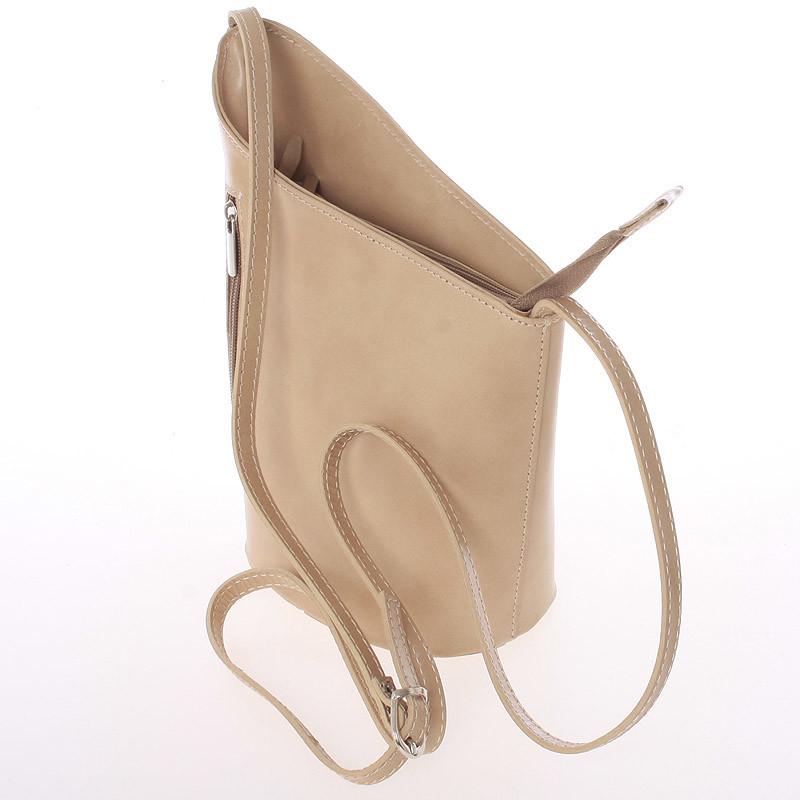 ... Originálne svetlá taupe kožená crossbody kabelka - Italy Meida ... 623486b1323