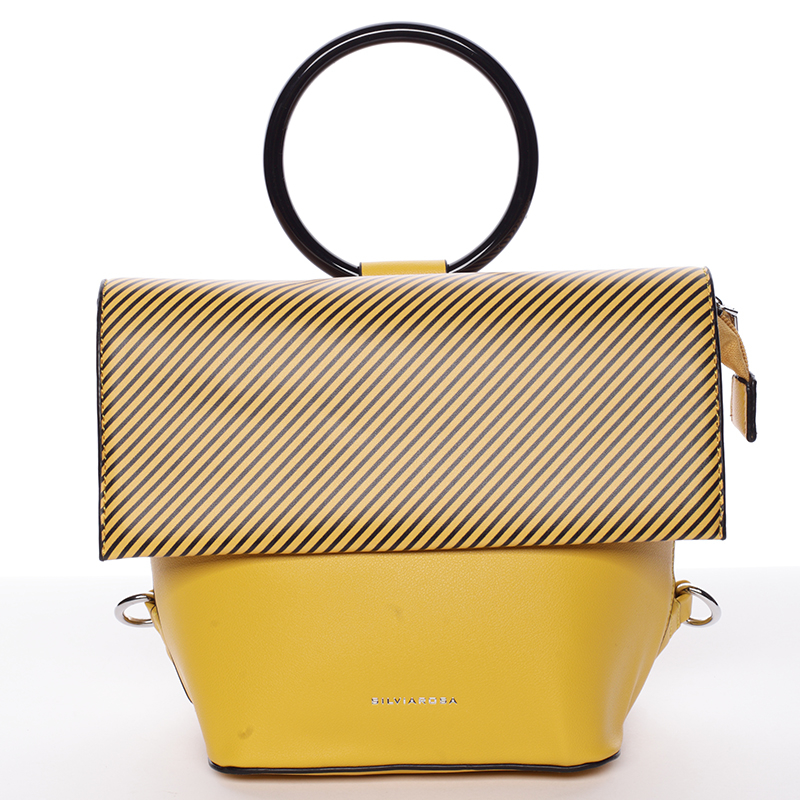 Hodiť by sa vám mohla originálna kabelka a batôžtek v jednom od značky Rosa  Marmara v jedinečnej kombinácii kanárikovo žltej a tmavohnedej farby. 9affa78af6e