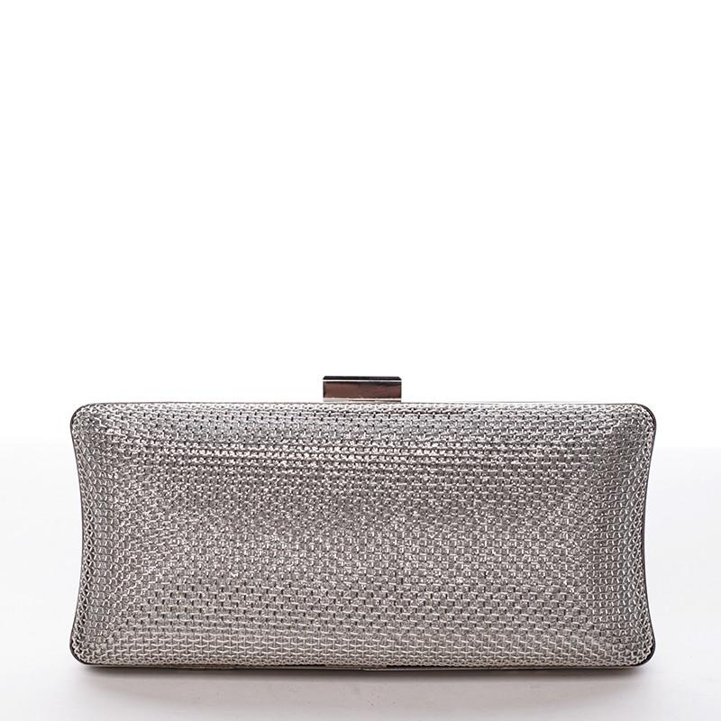 Originálna dámska kovová listová kabelka strieborná - Delami Q655 ... b2d626c933f