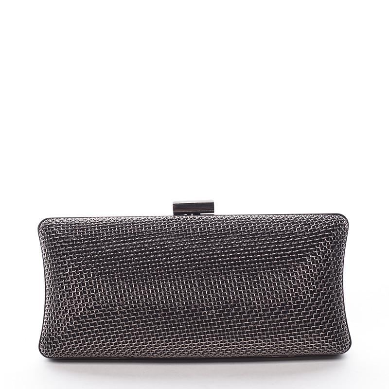 Originálna dámska kovová listová kabelka čierna - Delami Q655 - Kabea.cz 67a6e563136