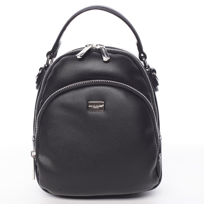 Malý dámsky čierny mestský batôžtek kabelka - David Jones Aubri ... 2b067941015