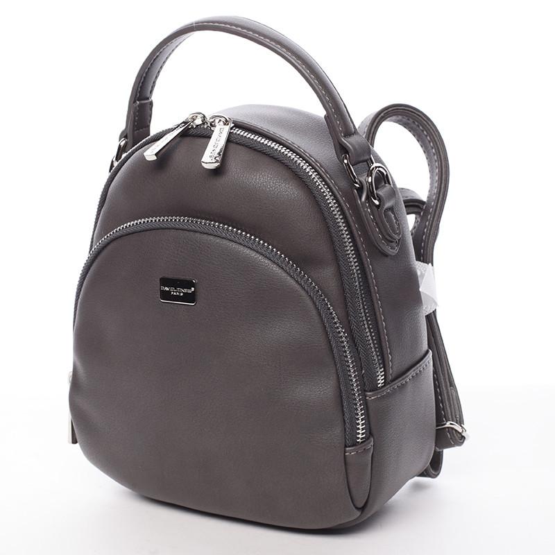 15a7148398 ... Malý dámsky tmavo šedý mestský batôžtek kabelka - David Jones Aubri ...