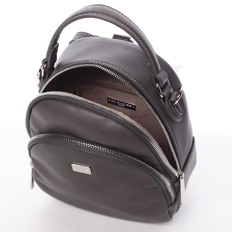 09b342fc1a Malý dámsky tmavo šedý mestský batôžtek kabelka - David Jones Aubri ...