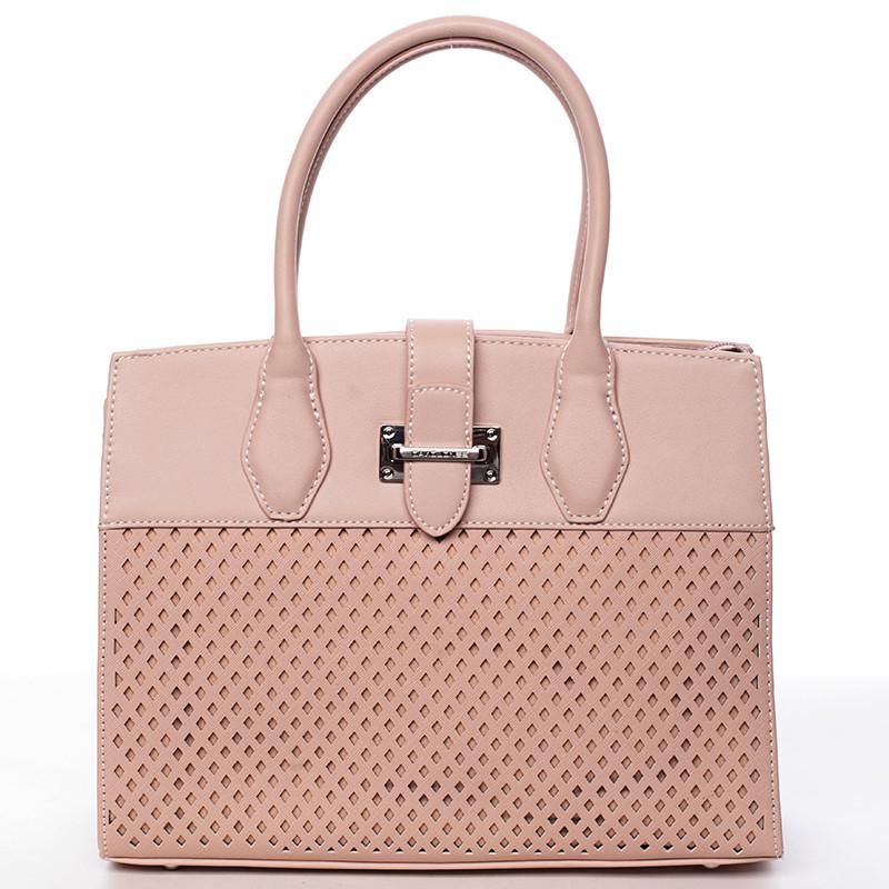 Luxusná a elegantná ružová perforovaná kabelka - David Jones Narella ... 433a9c9ddfc