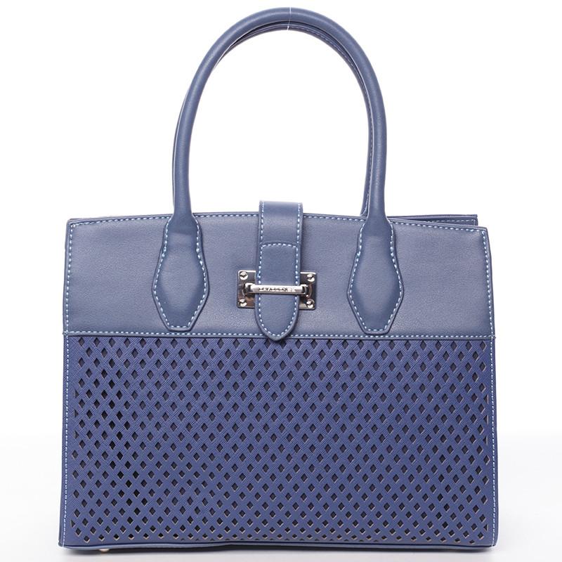 Luxusná a elegantná modrá perforovaná kabelka - David Jones Narella ... aa9d122b468