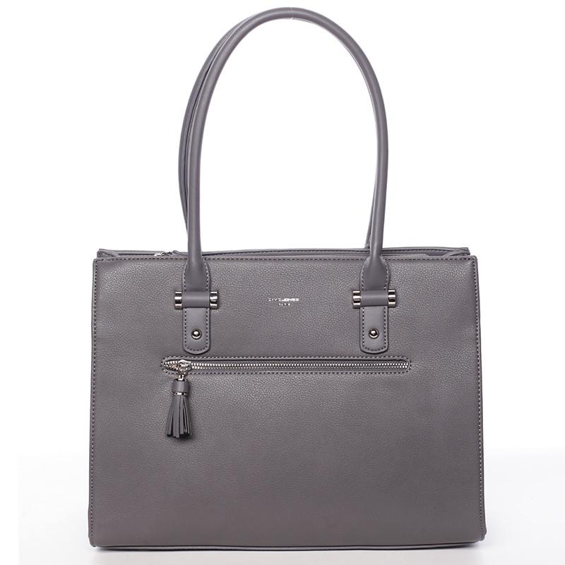 e9081e2a02 Módna a elegantná veľká tmavo šedá kabelka - David Jones Nastassia ...