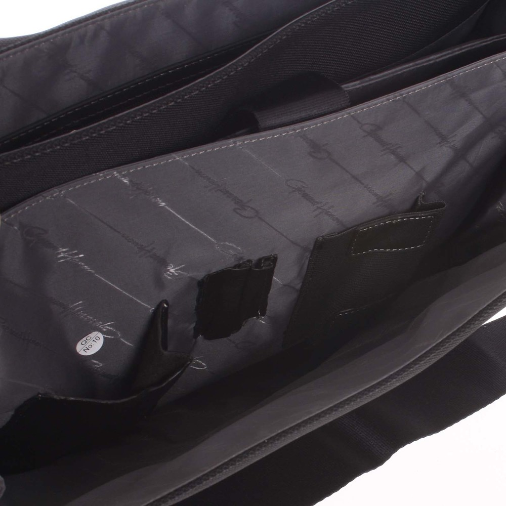 c1f77e9441 Veľká pánska kožená taška cez rameno čierna - Gerard HENON Mentor ...