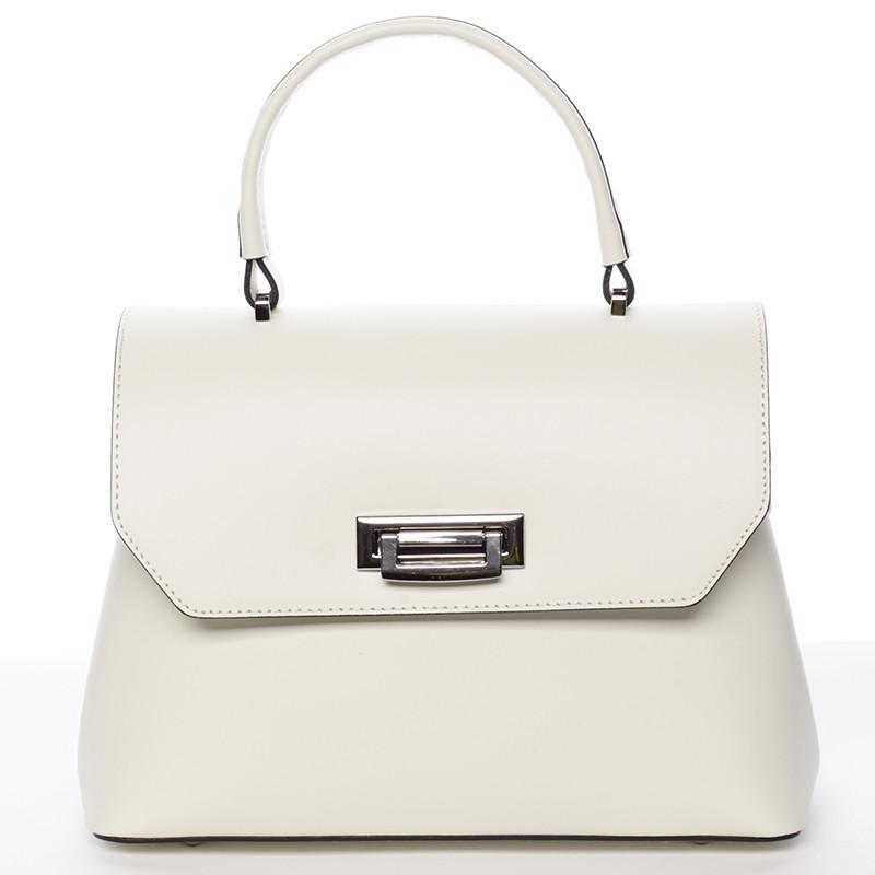 Originálna hladká krémová dámska kabelka do ruky - ItalY Neola ... cd848f9be70