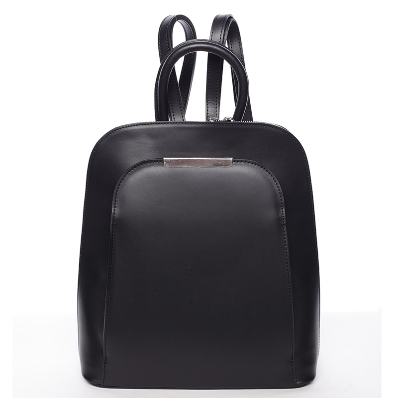 75ac506ce7 Hladký kožený elegantný dámsky čierny batoh - ItalY Nike - Kabea.cz