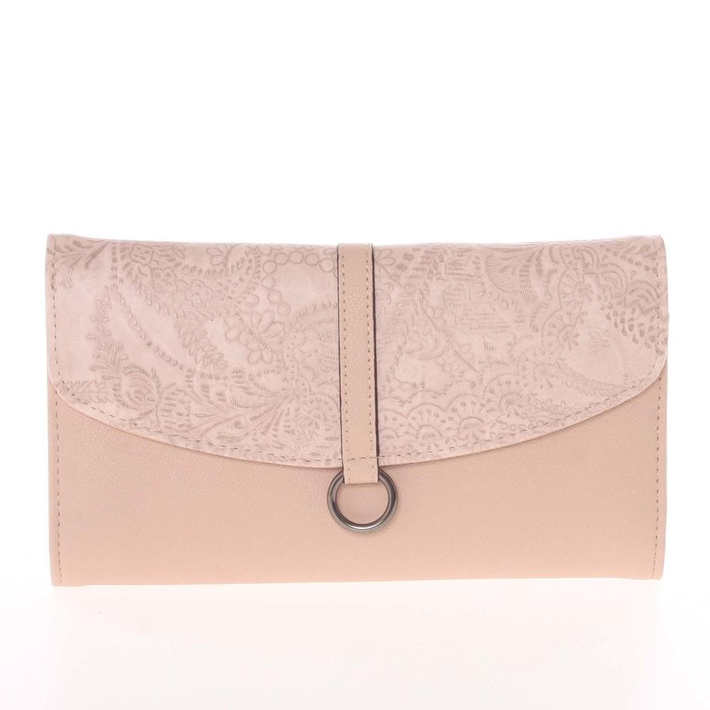 8ecf0f903d Originálna dámska listová kabelka s kvetinovým vzorom ružová - Delami D380  ...