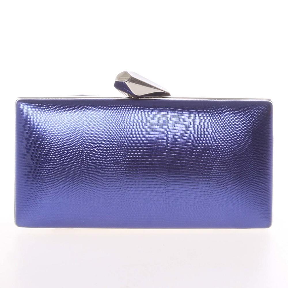 Exkluzívna dámska vzorovaná listová kabelka tmavomodrá - Delami L055 ... 28541b959a4