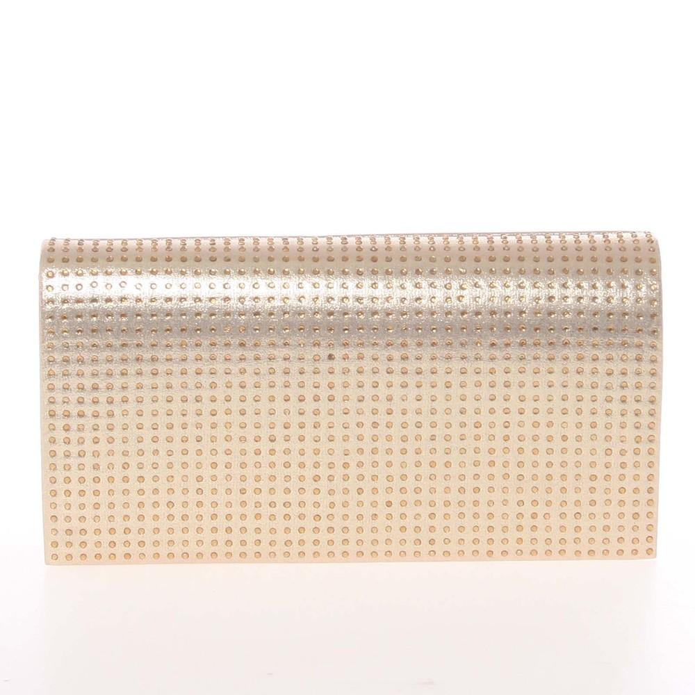74e42d9cc Elegantná dámska listová kabelka zlatá - Delami L013 - Kabea.cz