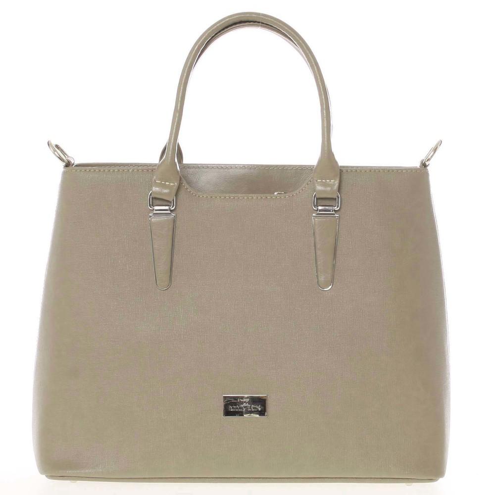 4c1e691ff37f Pevná luxusná camel kožená kabelka saffiano - Annie Claire 2912 ...