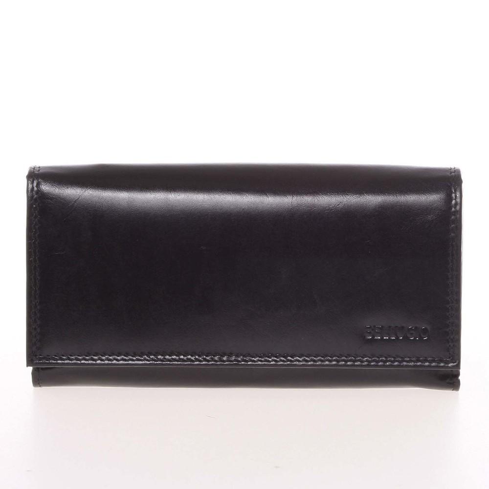 68d066fbbf Veľká dámska čierna kožená peňaženka - Bellugio Omega - Kabea.cz