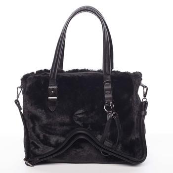1f66c3129c7e Exkluzivní kožešinová kabelka do ruky černá - MARIA C Zoey - Kabea.cz