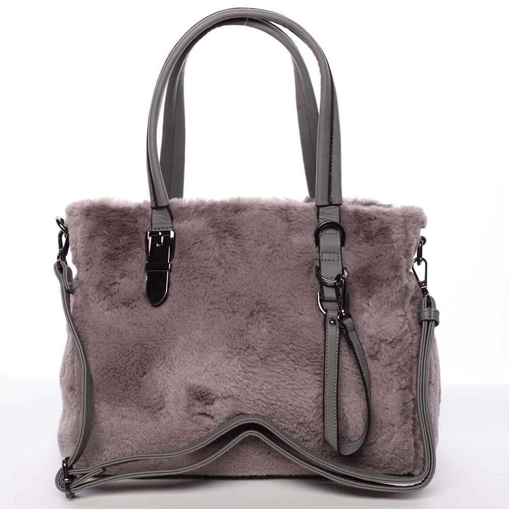 964474db76bf Exkluzivní kožešinová kabelka do ruky šedá - MARIA C Zoey - Kabea.cz