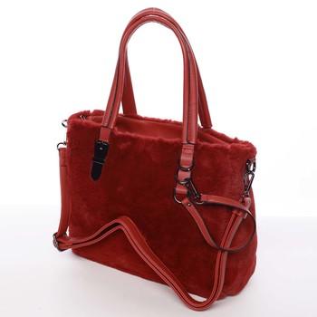77794710b0c6 Exkluzivní kožešinová kabelka do ruky červená - MARIA C Zoey - Kabea.cz